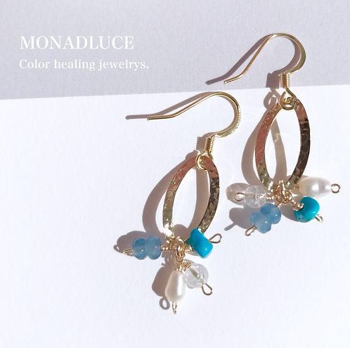Monadluce ターコイズピアス