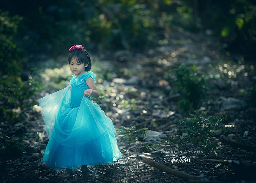 A themed princess photoshoot in Bali with bali based photographer marion Ardana Portrait