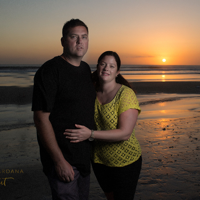 A gorgeous couples sunset photoshoot in Bali with Bali based photographer Marion Ardana Portrait