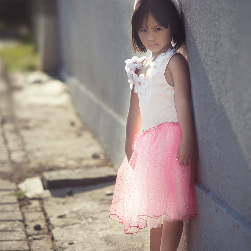 A beautiful themed children's  portrait photoshoot session here in Bali with Rania dressing up as A princess to pose for her portraits with Marion Ardana Portrait.
