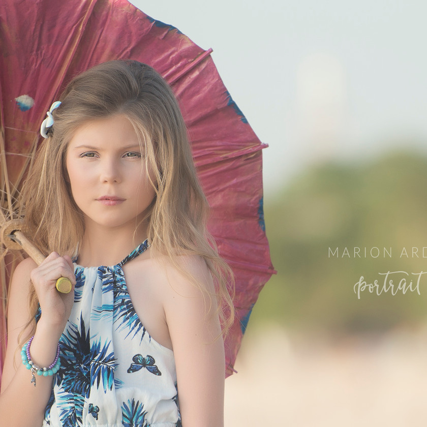 A beautiful children's portrait taken during a family photoshoot on location in bali with Bali based photographer Marion Ardana Portrait.