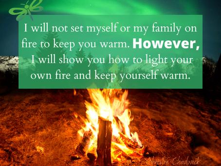 Keeping you warm.
