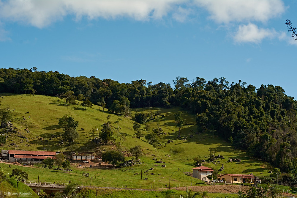 Paisagem vista da estrada do vinho em São Roque