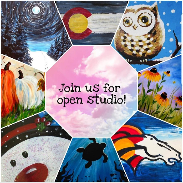 OPEN STUDIO $25/pp - You be the artist! All Ages Welcome - Unleash Your Inner Picasso - You Chose The Painting!  (2)