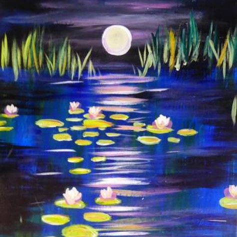 Friday 9/17 -  (complimentary 1st wine)  Moonlit Lillies