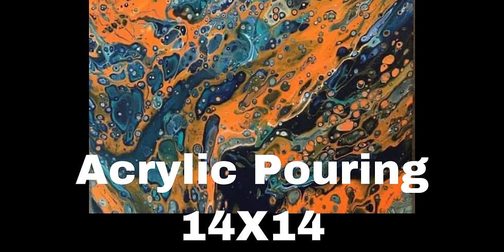 Sunday 7/25 - Acrylic Pouring (14X14)
