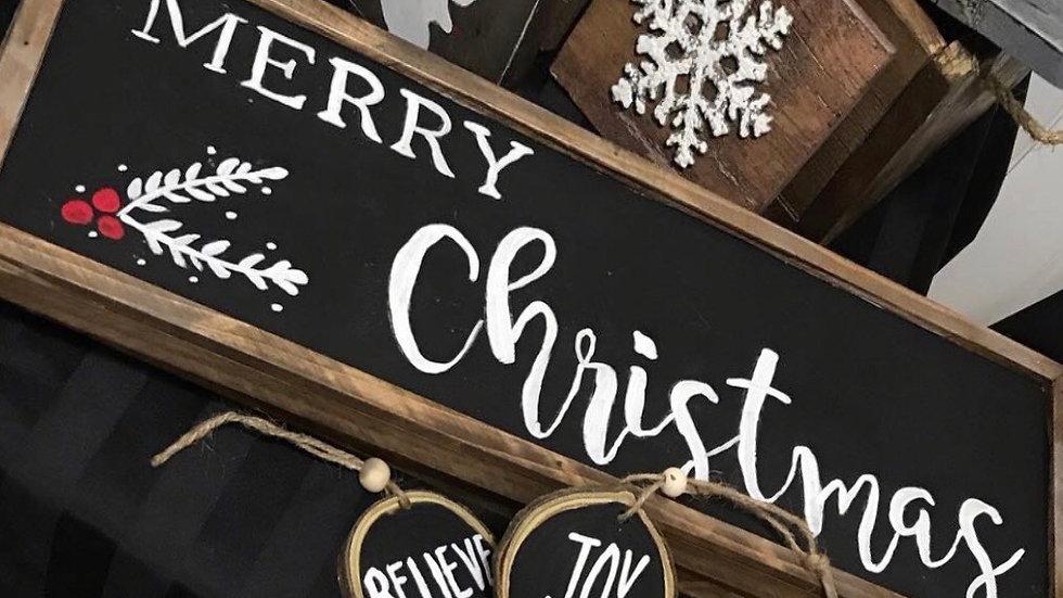 Farmhouse style Merry Christmas  sign
