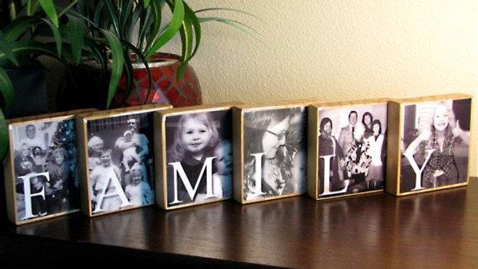 Personalized Photo Transfer FAMILY Blocks
