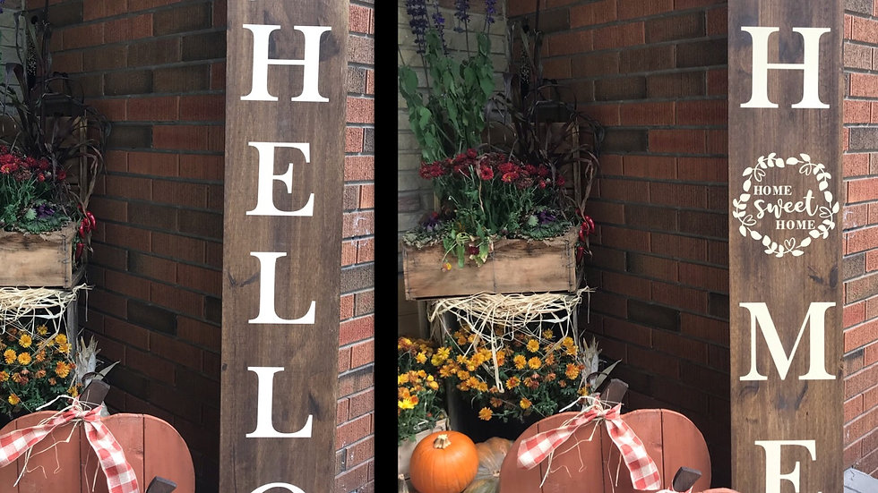 Two sided Porch sign