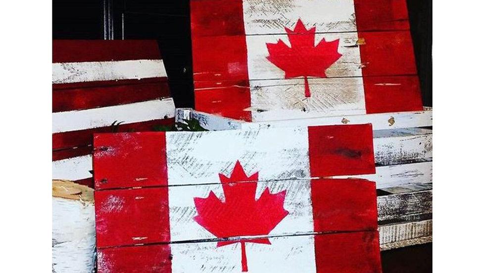 Rustic Canada Flag