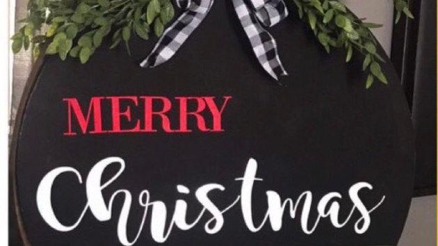DIY  Home kit Christmas door wreath hanger