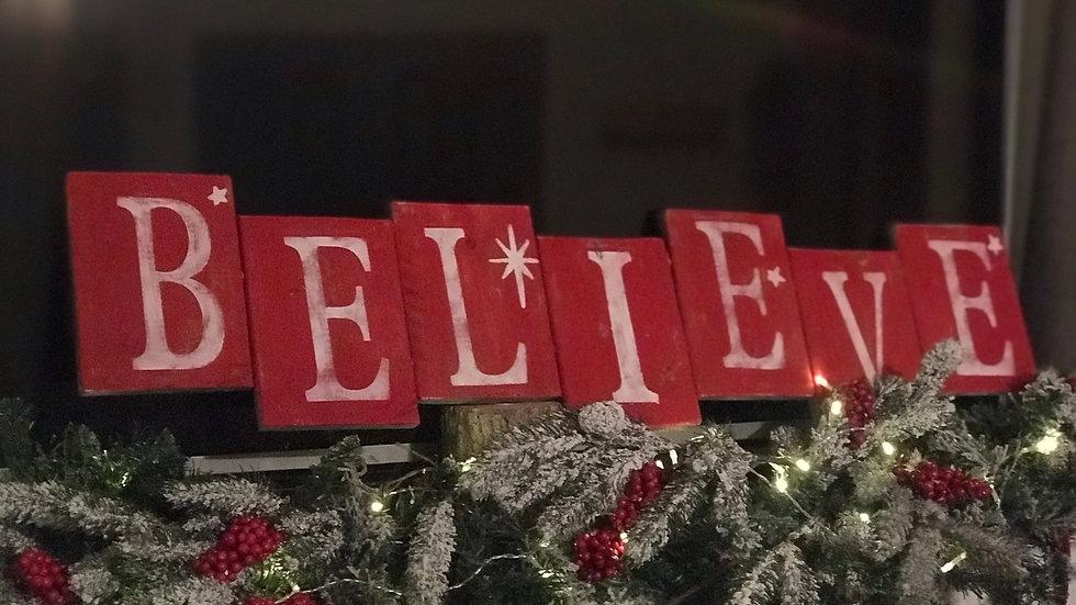 Believe Mantle sign