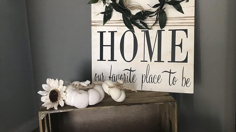 Farmhousestyle Home wreath sign