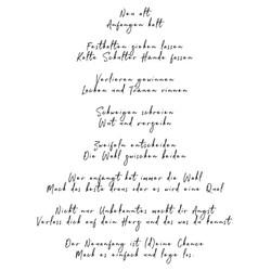 Gedicht - Neuanfang