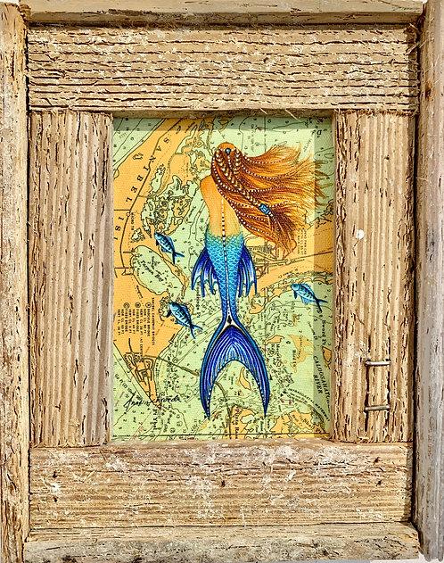 """Anne Schroeder """"Sanibel Mermaid"""" Giclee Print on canvas"""