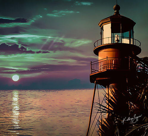 "Sanibel Lighthouse ""Imagine"" by Kathryn Seguin Photography Square Foot Show"