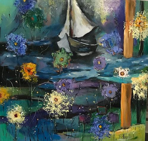 """Sailing Adventure"" by Joan Roberts. $1200"