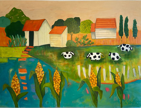 """ROOTS"" Original Acrylic Painting by Susan Sadler"