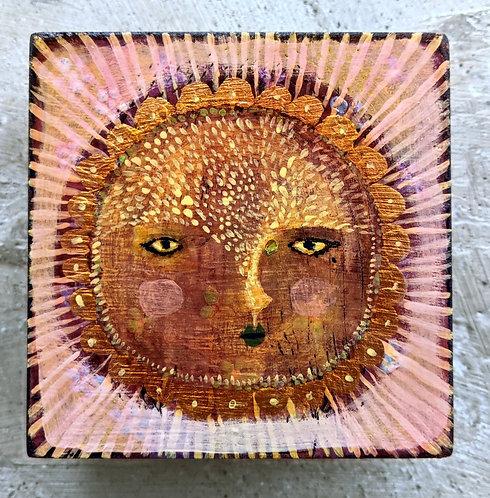 """Rosa"" Original Painting on Wood by Sarah Kiser"