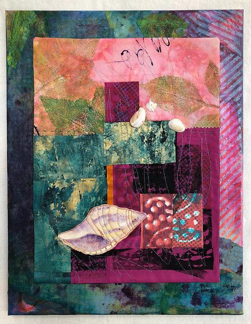 """Shell Island"" Fiber Art by Sally Dutko"