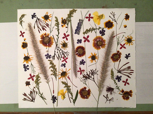 Sanibel Pressed Flower Medley by Marianne Ravenna