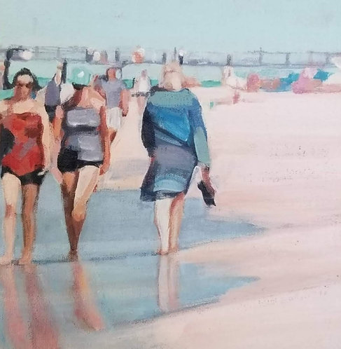 Giclee print on canvas, Marti Koehler, Beach Walkers