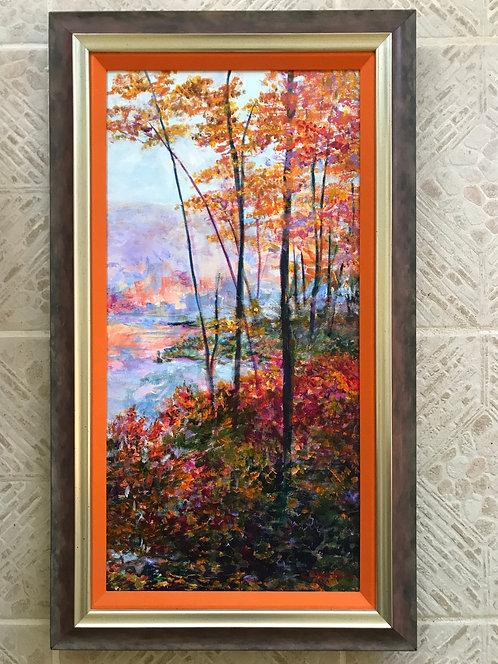 """Autumn Symphony"" framed original acrylic painting by Carole Nastars"