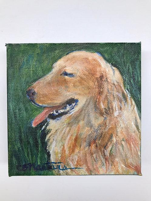 "SMILEY original 5"" x 5"" acrylic painting by Carole Nastars"