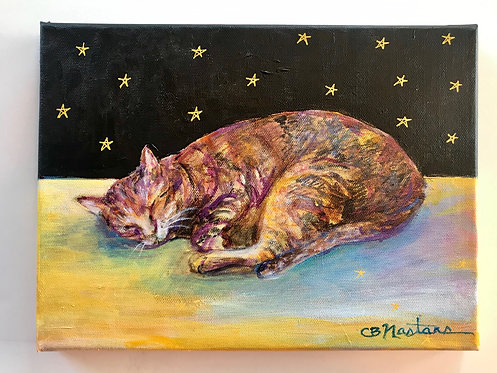 """SWEET DREAMS"" original acrylic painting by Carole Nastars"