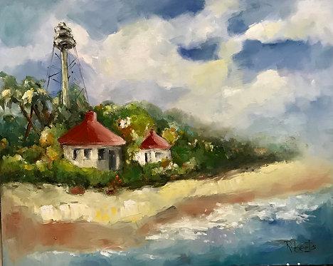 Sanibel Lighthouse by Joan Roberts