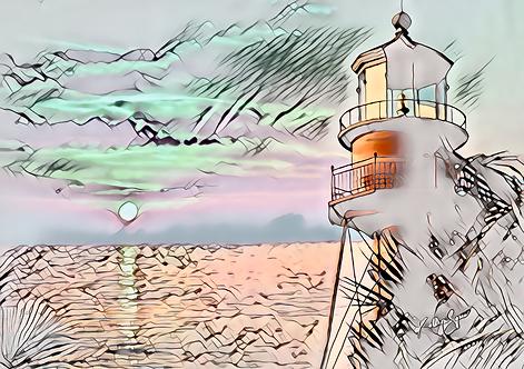 Mini Sanibel Lighthouse Print on Metal by Kathryn Seguin Photography