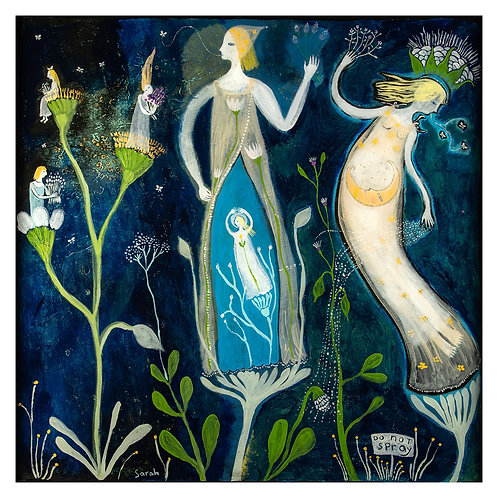 """Weeds"" 16x16 Print by Sarah Kiser"