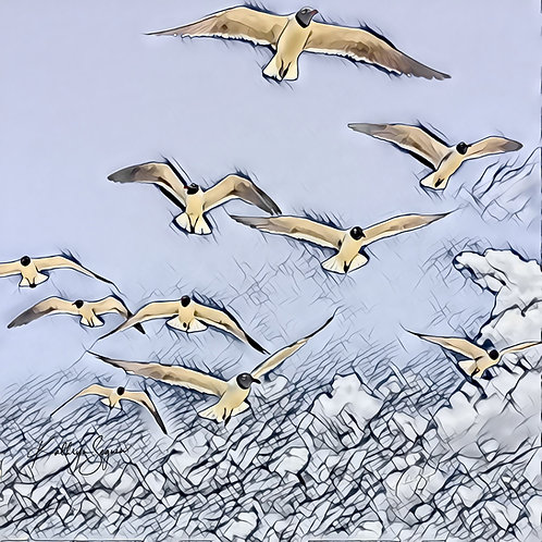 The Flock Mini Metal Print by Kathryn Seguin Photography