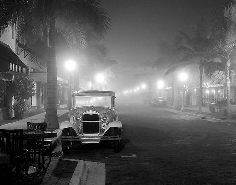 "Model A in Fog  - a photograph by Buck Ward 16""x20"""
