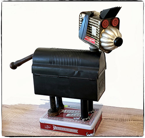 """Found-Object Dog by Mike Danley """"Pepper"""""""