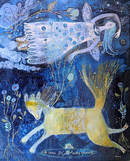 """""""Come Fly Away with Me"""" Original Painting on Panel 16x20 Sarah Kiser"""