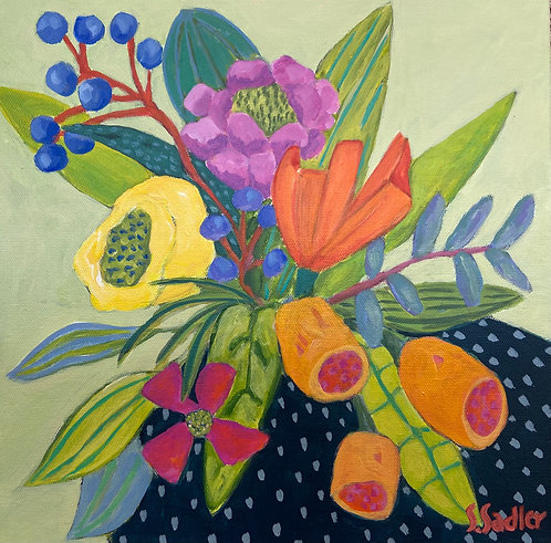 FEBRUARY BLOOM original acrylic by Susan Sadler