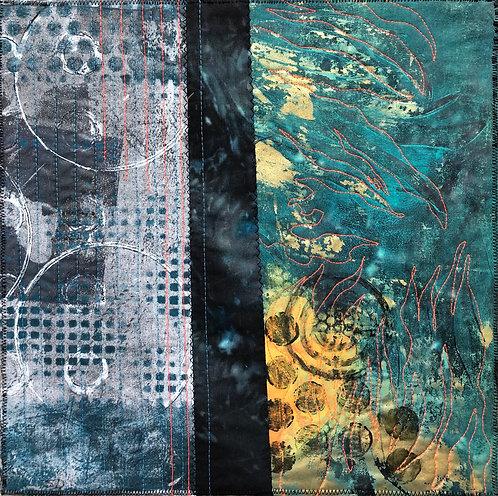 """Water View"" Fiber Art by Sally Dutko"