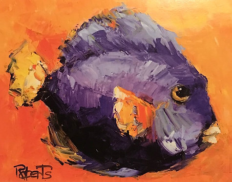 CUSTOM-MADE Family and Friends Painted as a Fish by Joan Roberts - Great Gifts