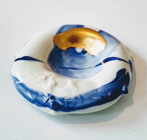"""Ludmila Evans """"Edgey"""" original porcelain bowl"""