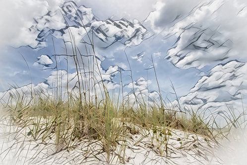 Sea Oats Mini Metal Print by Kathryn Seguin Photography