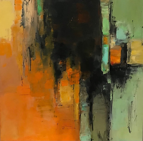 """""""Catching Abstract l""""  by Joan Roberts 24X24, Giclee"""