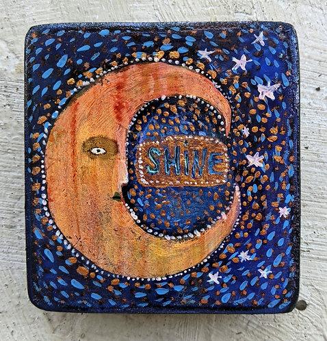 """Shine"" Original Painting on Wood by Sarah Kiser"