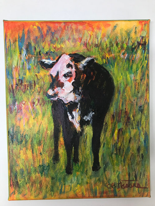 """Dolly"" original acrylic painting by Carole B Nastars"