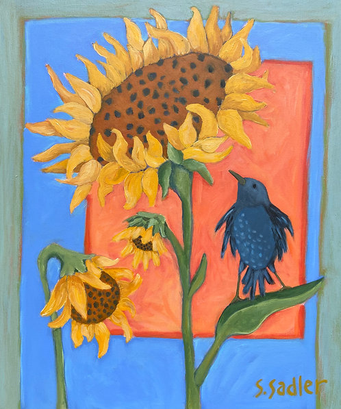 """GOOD DAY SUNSHINE"" original acrylic by Susan Sadler"