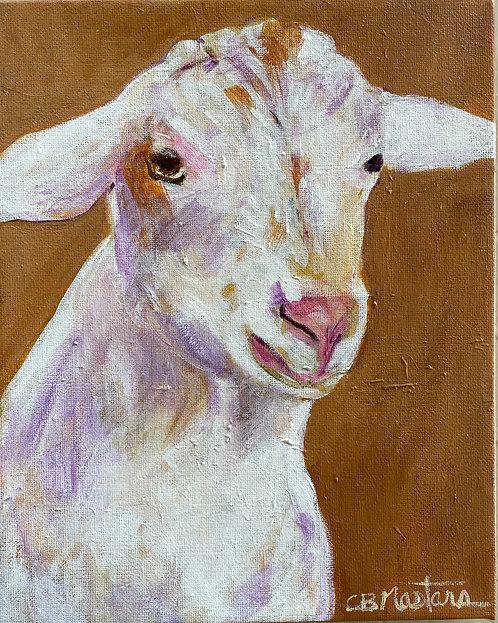 "PLAYFUL'KID' is an original 8""x10""acrylic painting by Carole Nastars"
