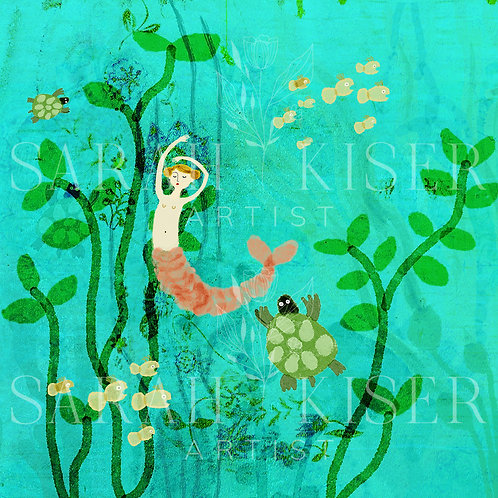"""Georgina Mermaid"" Metal Print by Sarah Kiser"