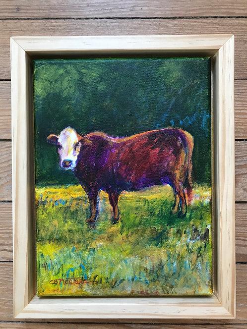 """Country Miss"" Original acrylic painting by Carole Nastars"