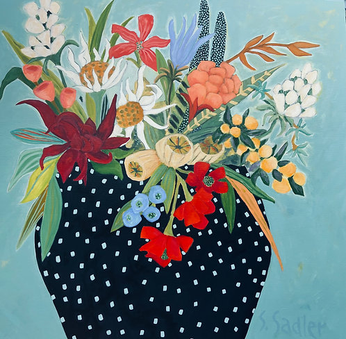 ''GARDEN BLISS'' original acrylic by Susan Sadler