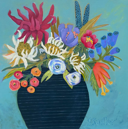 ''JANUARY BLOOM'' original acrylic by Susan Sadler